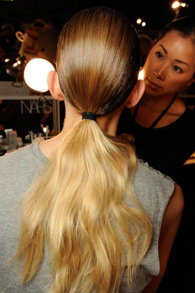 The perfect SS15 ponytail